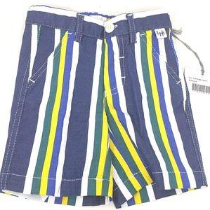 II Gufo Boys striped blue green shorts w/tags 12m.